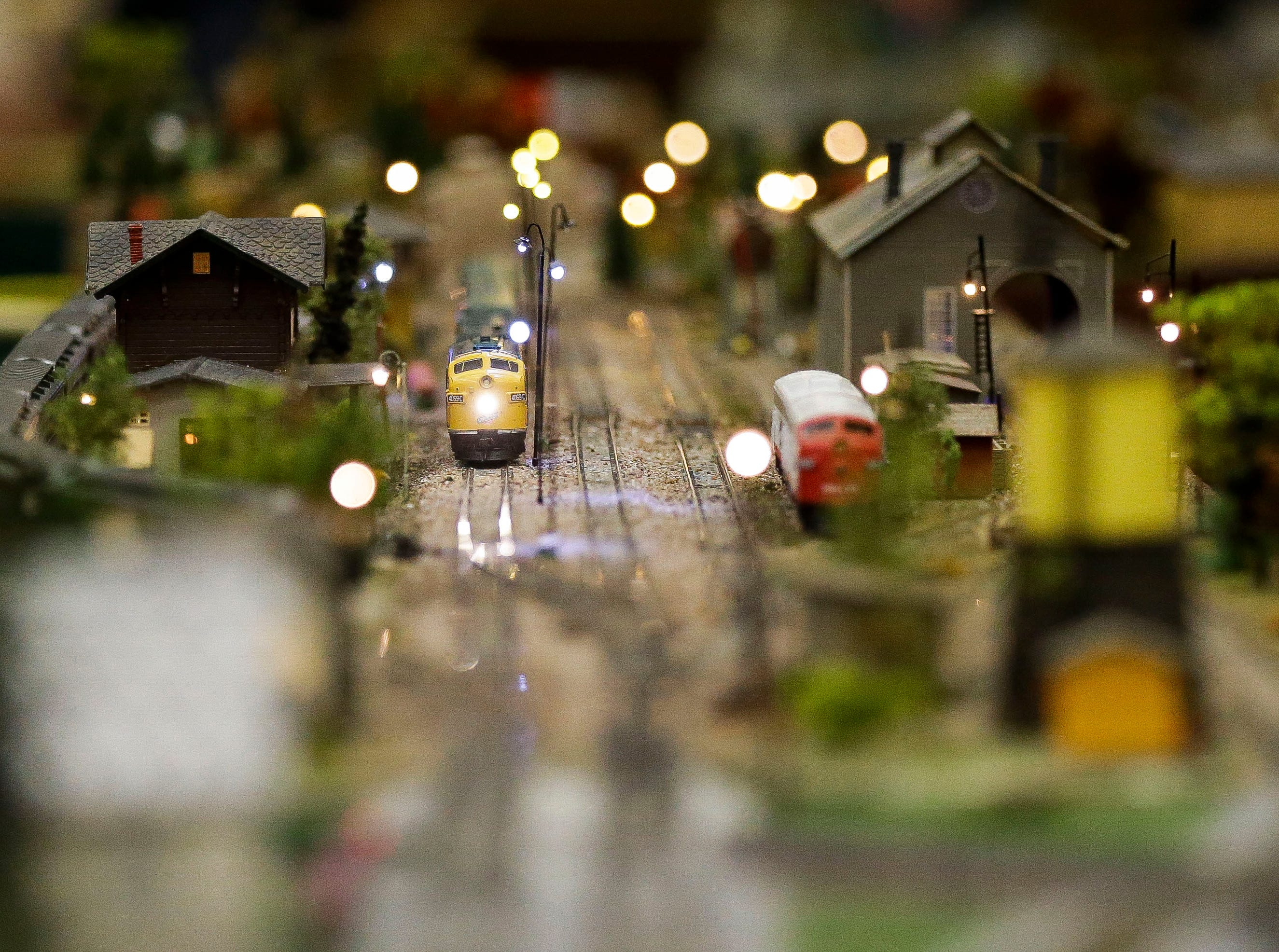 A model train runs along a diorama on Sunday, February 3, 2019, during the Arctic Run Model Railroad Show at the Holiday Inn Convention Center in Stevens Point, Wis.Tork Mason/USA TODAY NETWORK-Wisconsin