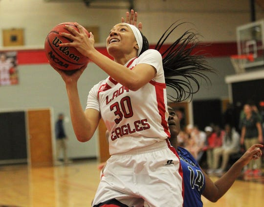 NFC senior Caylan Jones scored 35 points as NFC's girls basketball team beat Maclay 72-56 on Jan. 31, 2019.