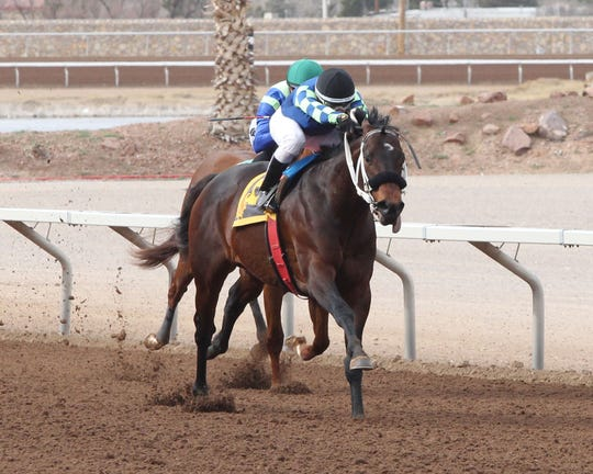 Runaway Ghost won the Fort Bliss Stakes race Saturday at Sunland Park Racetrack & Casino.