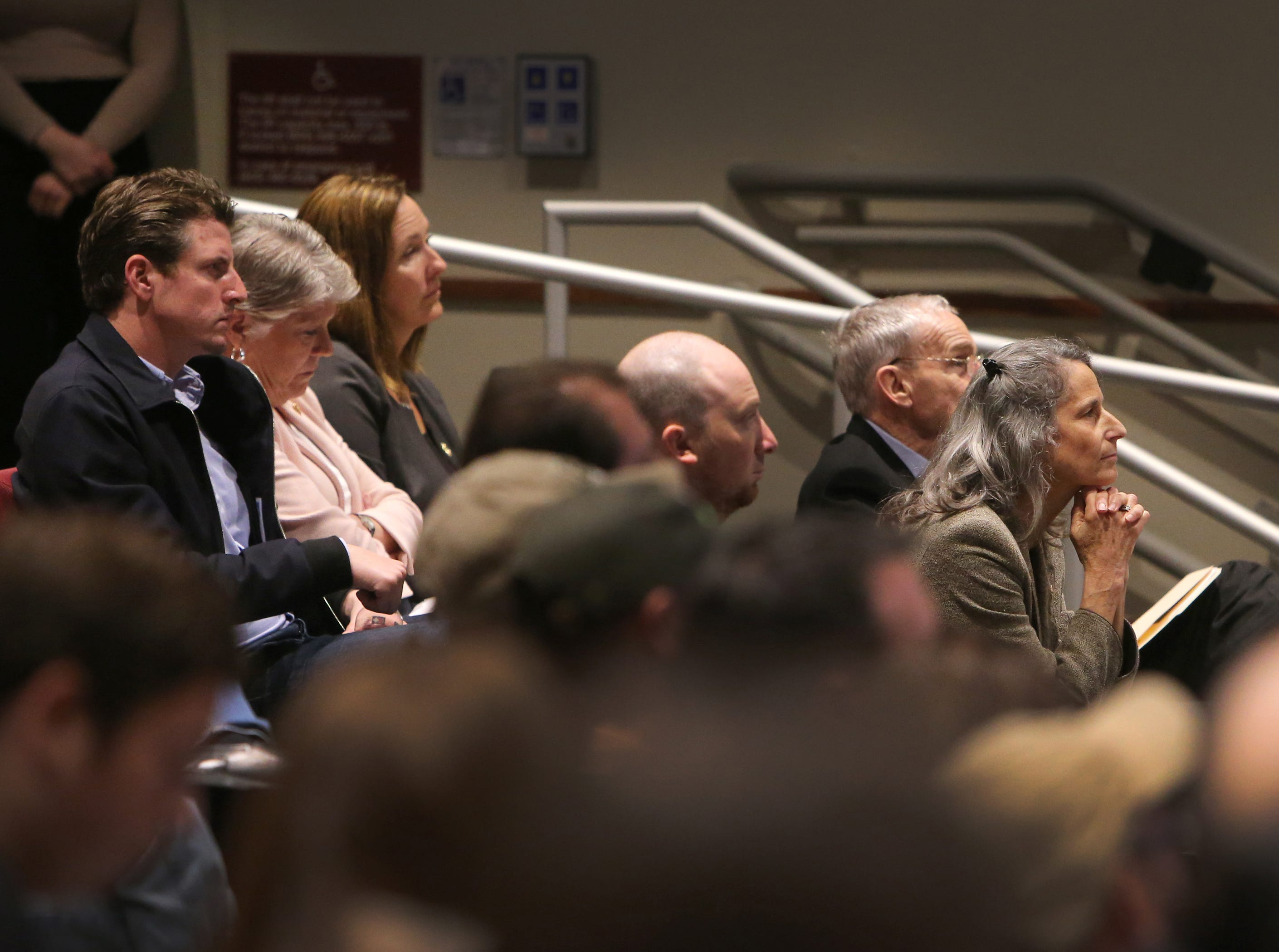 Those who attended a forum on gun violence Sunday included lawmakers Henry Stern, D-Agoura Hills; Congresswoman Julia Brownley, D-Westlake Village; Assembly member Jacqui Irwin, D-Thousand Oaks; and Ventura County Supervisors Linda Parks and Steve Bennett. The event at Westlake High School drew about 200 people.
