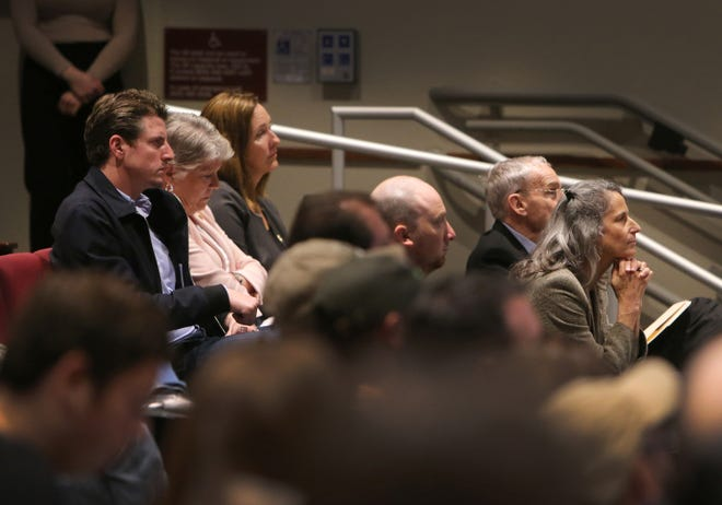A forum on gun violence at Westlake High School drew about 200 people in February. Those who attended included Sen. Henry Stern, D-Agoura Hills; Congresswoman Julia Brownley, D-Westlake Village; Assembly member Jacqui Irwin, D-Thousand Oaks; and Ventura County Supervisors Linda Parks and Steve Bennett.