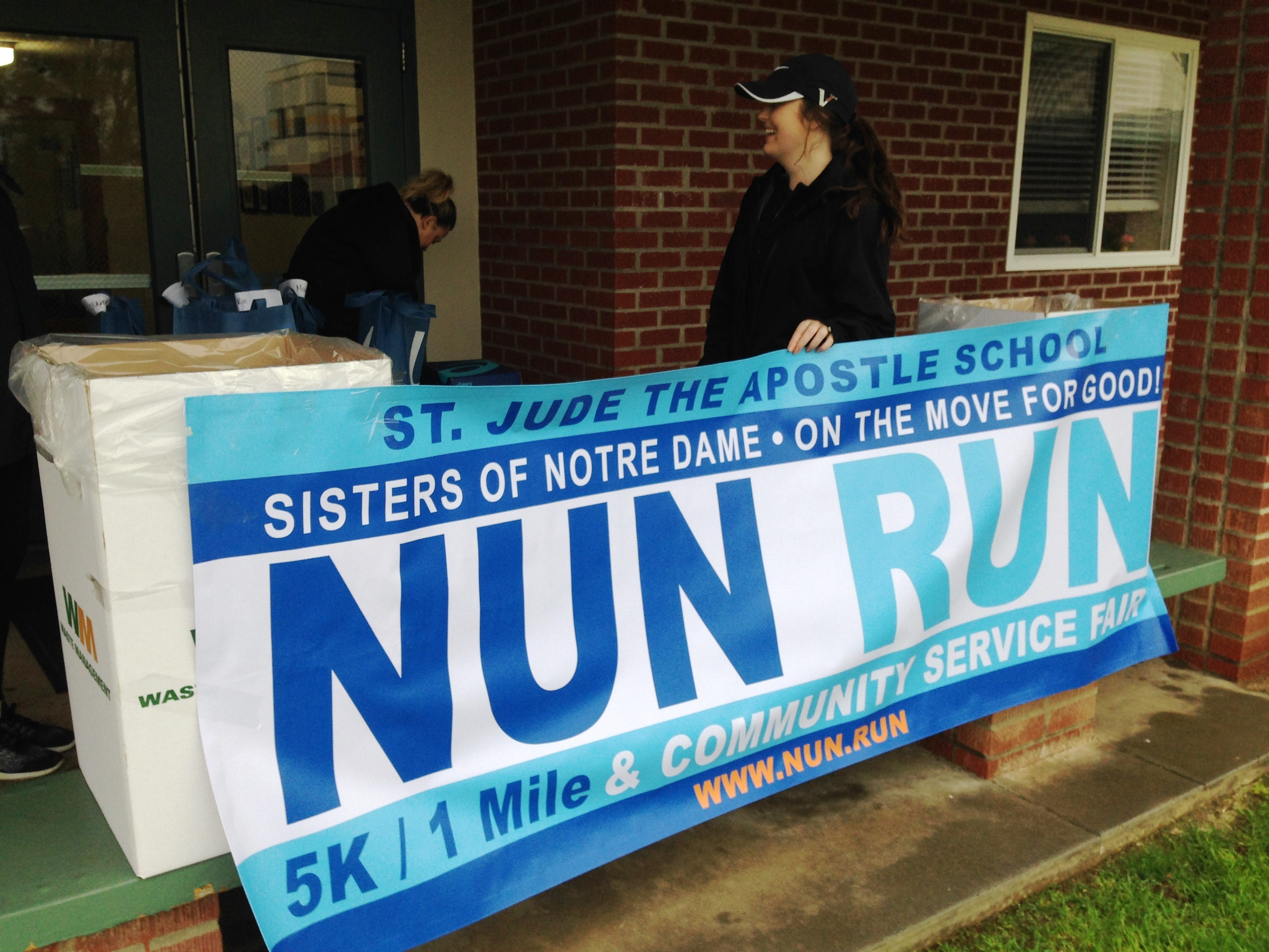 Kaitlyn Wilson, a teacher at St. Jude the Apostle School, was among hundreds of people who came to support the fifth annual Sisters of Notre Dame Nun Run, presented by La Reina High School and Middle School in Thousand Oaks on Saturday.