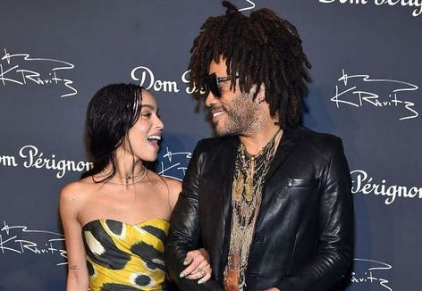"Zoe Kravitz exposed her backside on Instagram, which was part of a nude ""Rolling Stone"" shoot, and her father, Lenny, had a very funny response."
