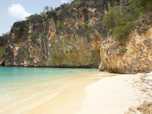 Caribbean beaches offer secluded retreats