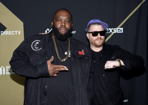 Killer Mike and El-P of Run the Jewels attend DIRECTV Super Saturday Night 2019 at Atlantic Station on Feb. 2.