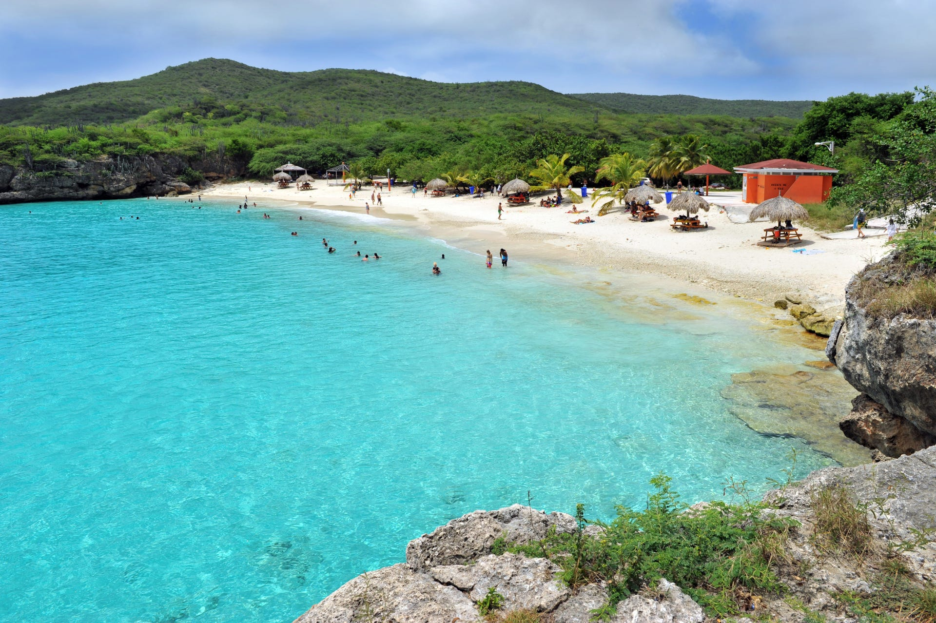Playa Kenepa, on the west side of Curacao, is really two beaches rolled into one. The bigger beach, known as Grote Knip, is carpeted in white sand while the smaller, more intimate beach called Klein Knip is favored for the snorkeling hot spots close to the coastline.