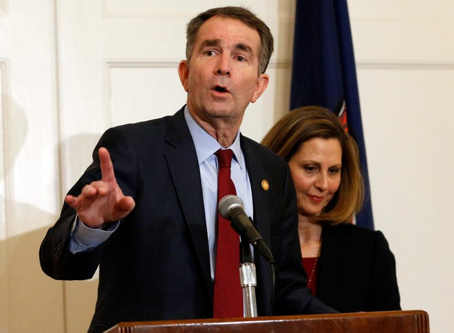 Virginia Gov. Ralph Northam and his wife, Pam, on Saturday.