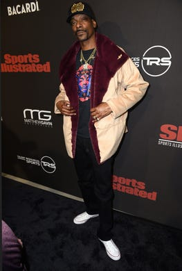 Snoop Dogg attends Sports Illustrated Saturday Night Lights powered by Matthew Gavin Enterprises and Talent Resources Sports on Feb. 2.
