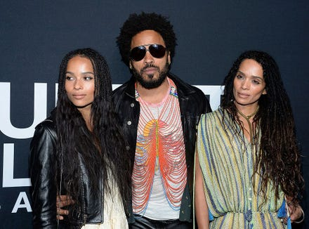 "Zoe Kravitz said she was raised primarily by her mother but wouldn't characterize her father as ""absent"" in a ""Rolling Stone"" interview."