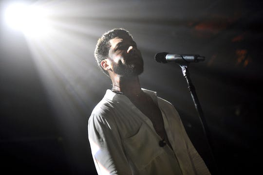 Singer Jussie Smollett performs onstage at Troubadour in West Hollywood Saturday.