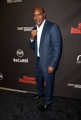 Evander Holyfield attends Sports Illustrated Saturday Night Lights powered by Matthew Gavin Enterprises and Talent Resources Sports on Feb. 2.