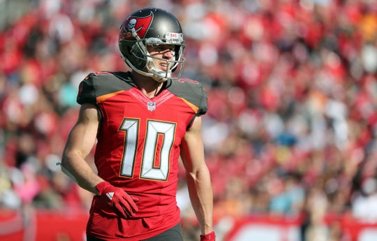 Dec 30, 2018; Tampa, FL, USA; Tampa Bay Buccaneers wide receiver Adam Humphries (10) during the second quarter at Raymond James Stadium. Mandatory Credit: Kim Klement-USA TODAY Sports