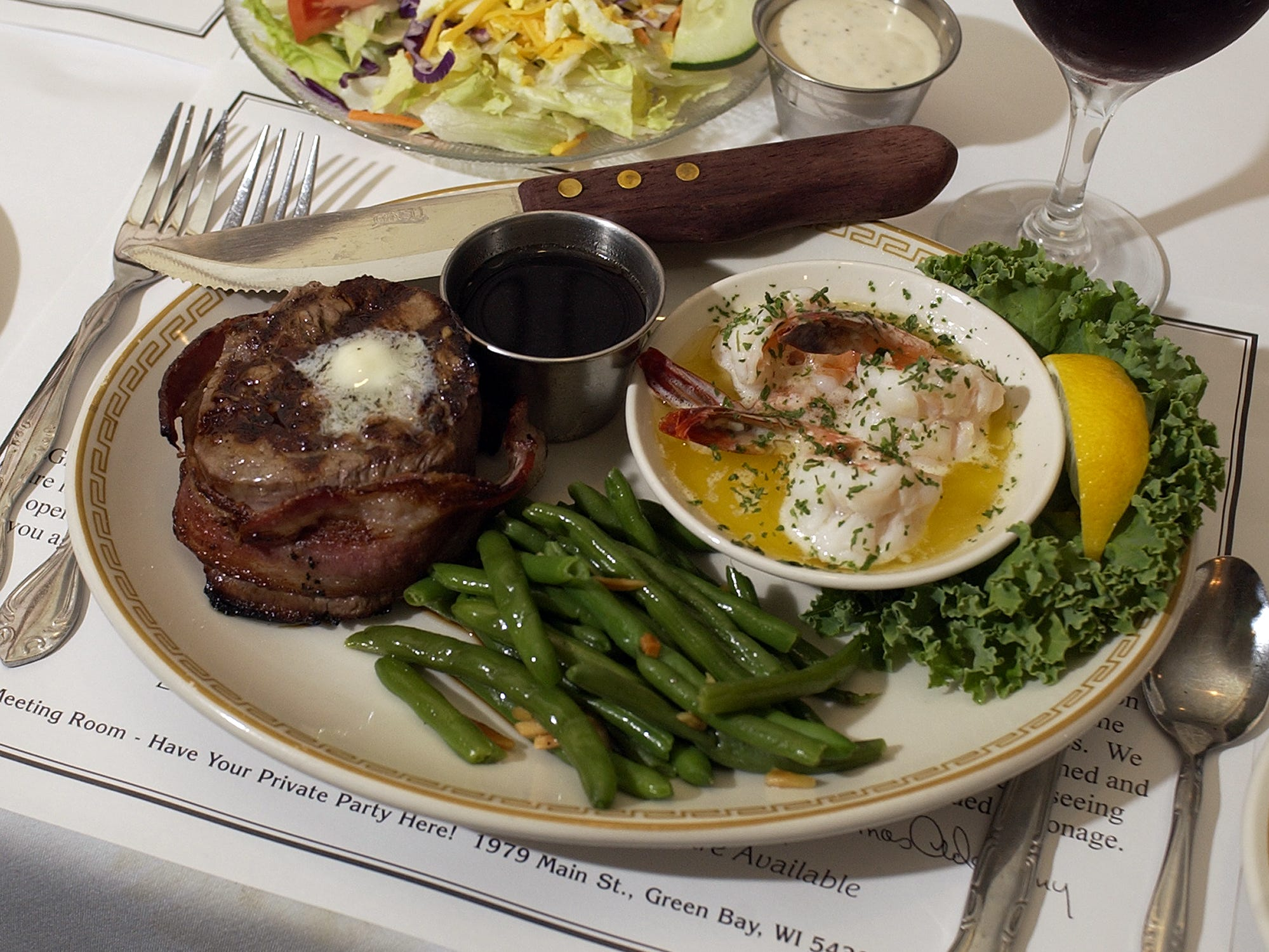 Steak and seafood are staples at Wally's Spot Supper Club.