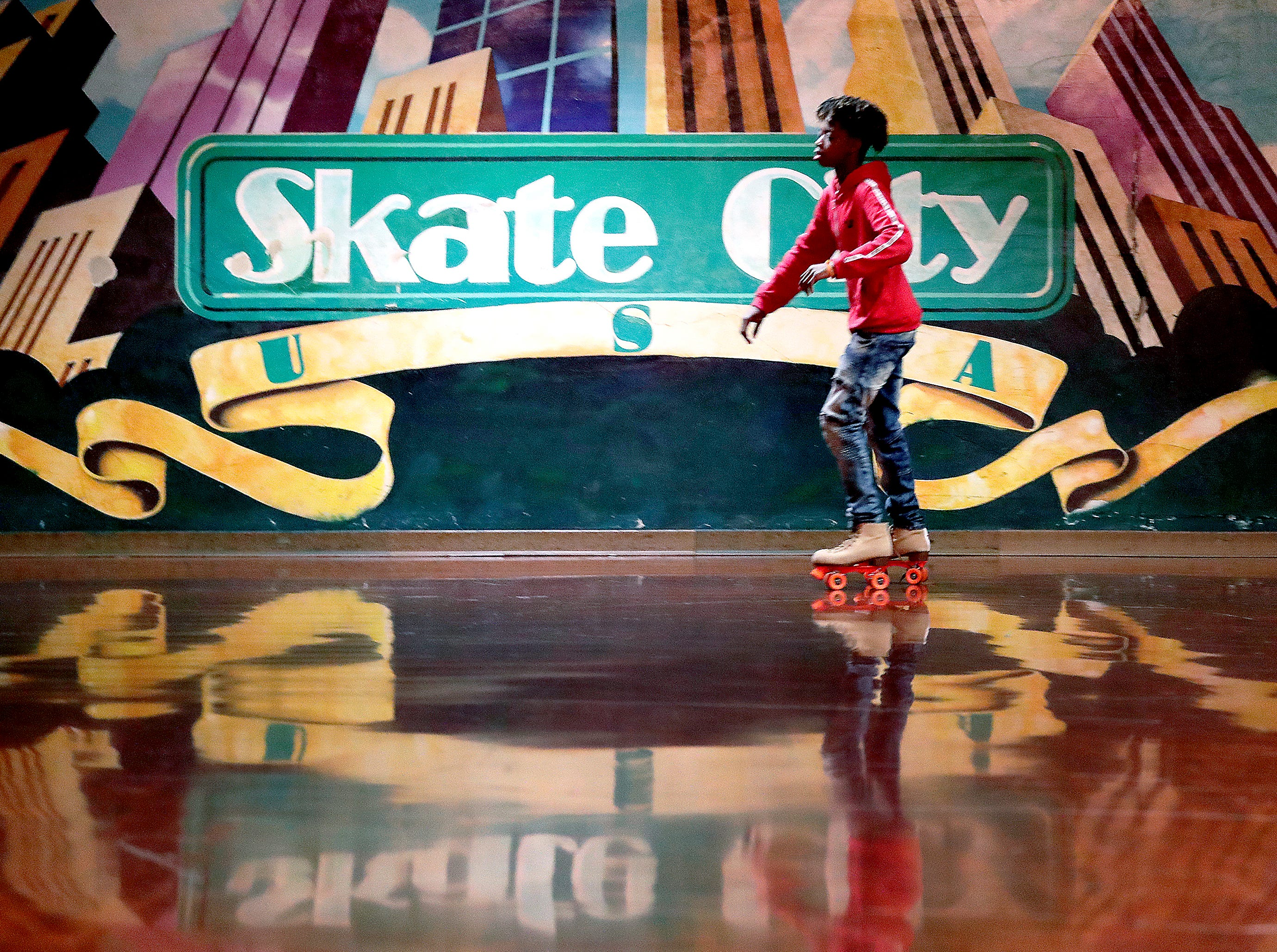 Skate City roller skating rink on Friday, February 2, 2019, in Kimberly, Wis.