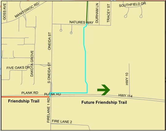 Menasha will construct a half-mile trail through the Menasha Conservancy to complete a segment of the Fox Cities Paper Trail.