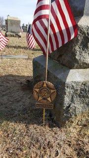 Pvt. Thomas Fallon's grave site in Freehold Borough