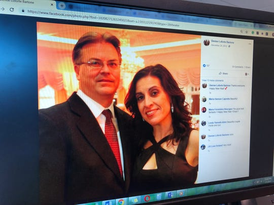 A photo of Denise and Kenneth Bartone from her Facebook page.