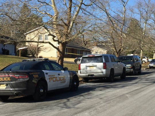 """Authorities at the scene of """"suspicious death"""" in Freehold Township."""