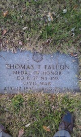 A local historian and her friend, a descendant of the war hero, fought to get Private Thomas Fallon's Medal of Honor back to Freehold, New Jersey.