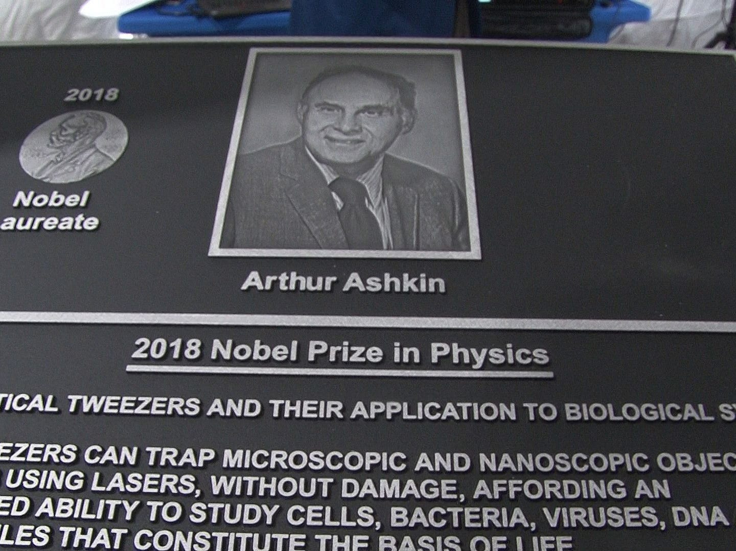 Ashkin won the Nobel Prize for physics for his three decades of work at Bell Labs in Holmdel.