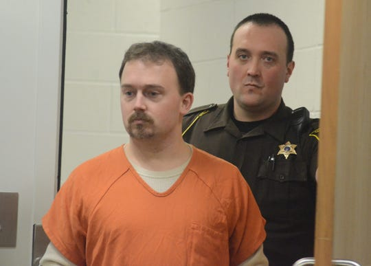 Former Athens teacher Tyler Millward enters the courtroom Monday.