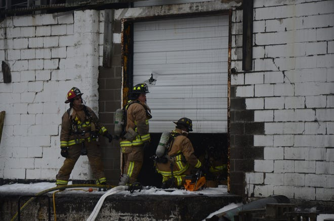 Battle Creek firefighters were called to a warehouse fire Monday.