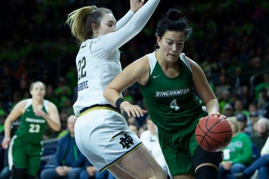 Homegrown Binghamton University freshman Annie Ramil.