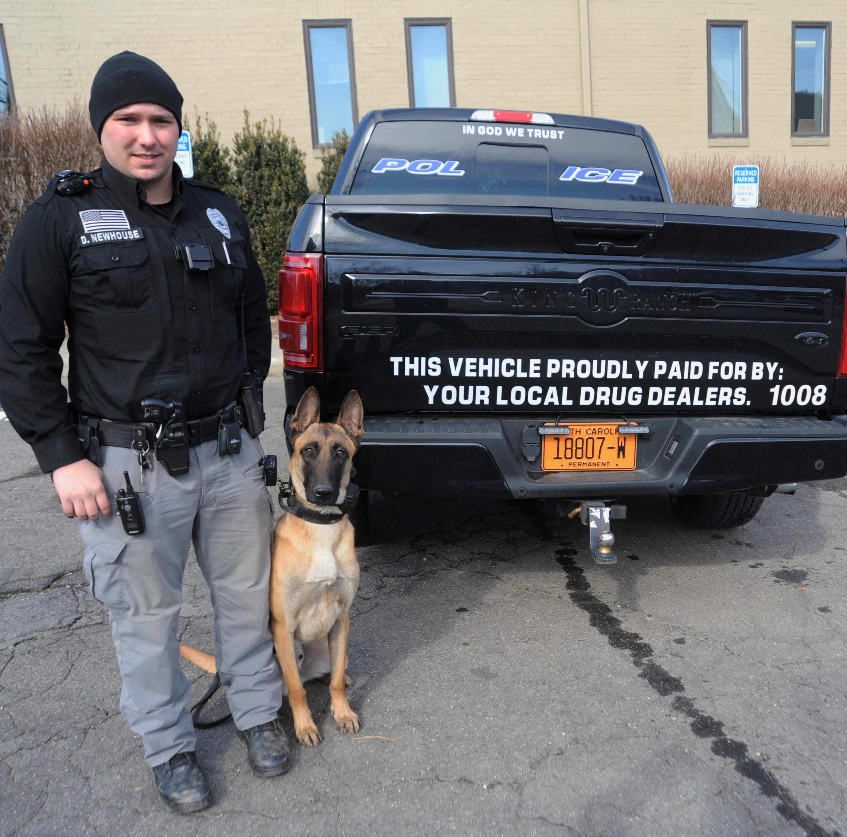 Black Mountain K-9 vehicle sends message to drug dealers