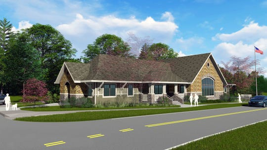 A rendering shows what Montreat's town hall will look like when construction, which is scheduled to begin later this year, is completed.
