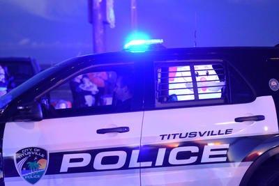 Titusville police squad car.