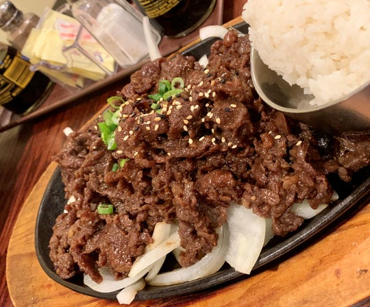 The bulgogi at Mangetsu was first-class, possibly the best in the area.