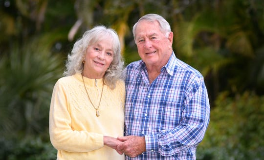 Ed and Cheryl Scott in their Merritt Island home.