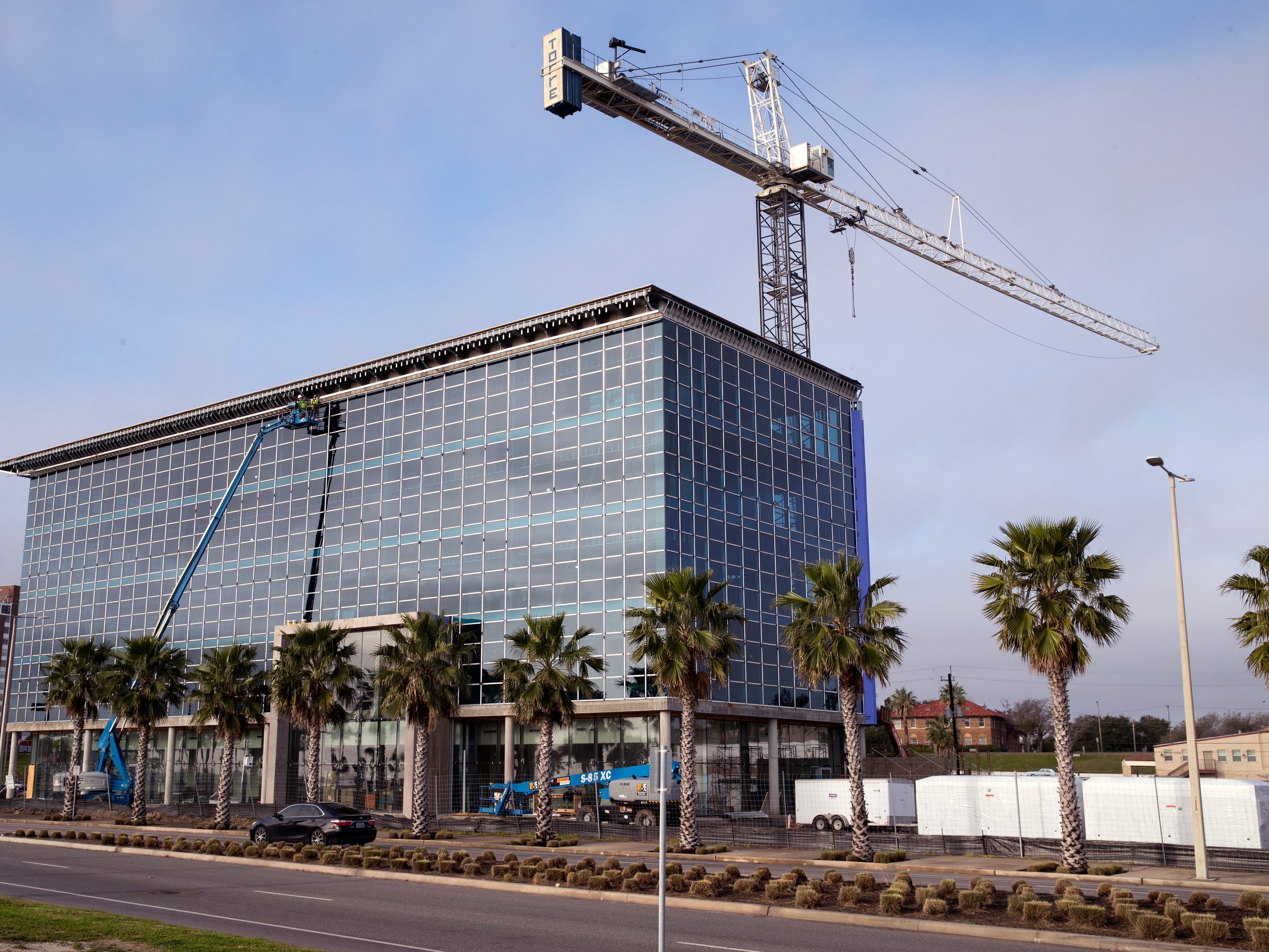 Work continues on the new Corpus Christi headquarters for Frost Bank on Thursday, January 31, 2019.