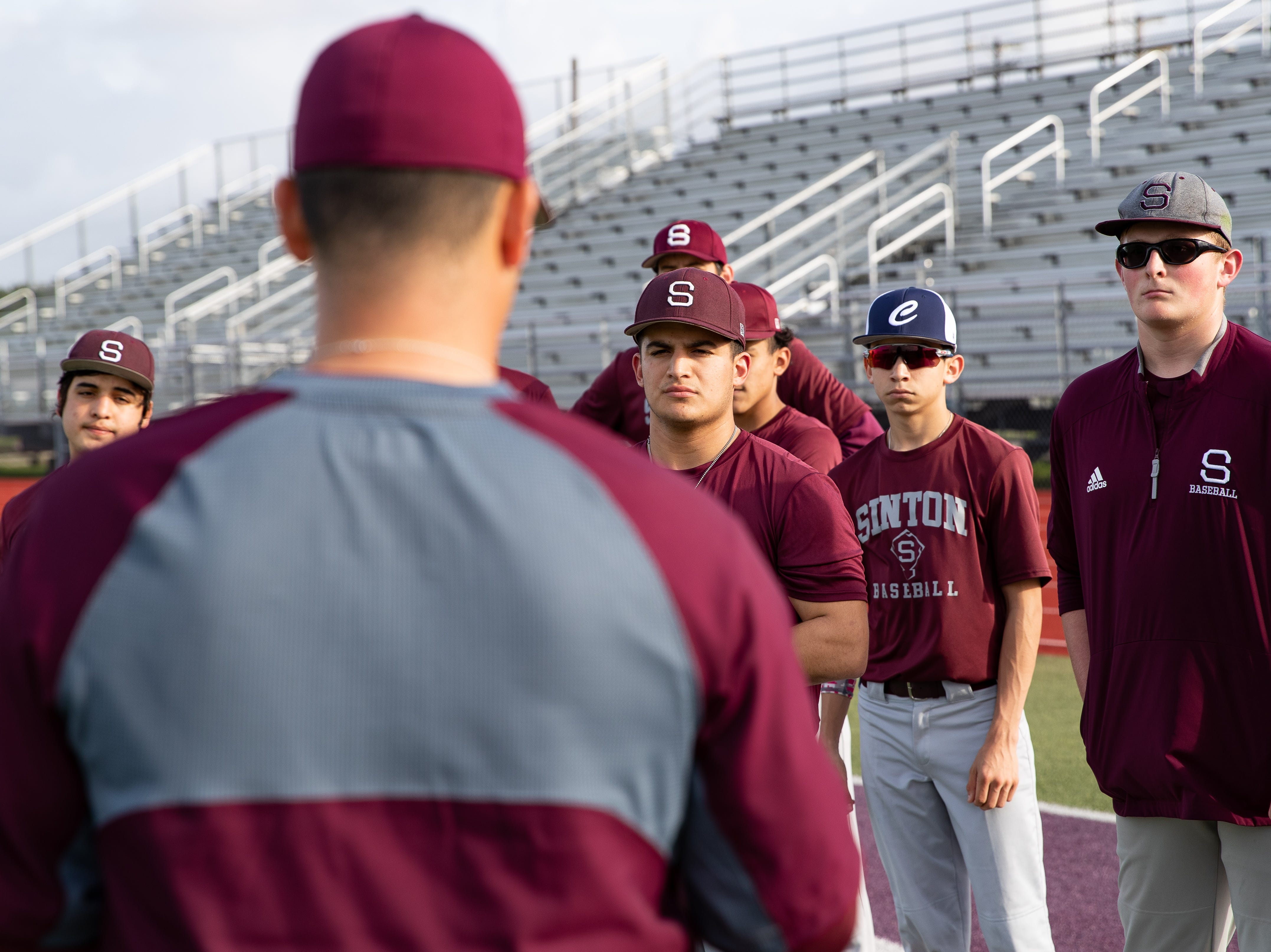 Sinton High School baseball team during practice on Friday, Feb. 1, 2019.