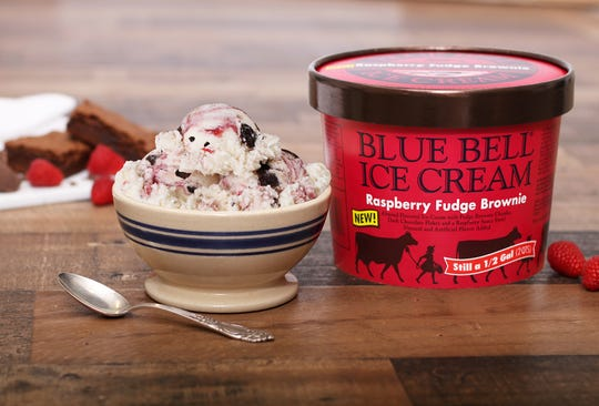 """Blue Bell released a limited-edition flavor """"Raspberry Fudge Brownie"""" in February 2019."""