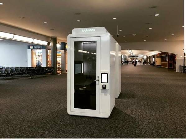 CVG has two Jabbrrbox work spaces in Concourse B.
