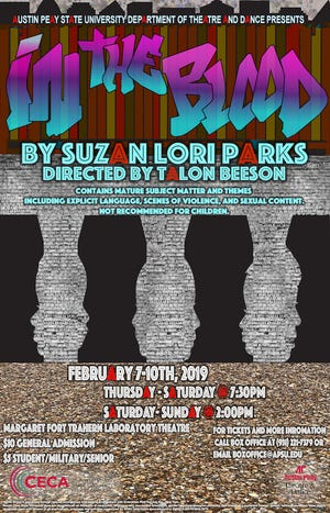 Department of Theatre and Dance to present Suzan-Lori Parks' In the Blood with Guest Costume Designer, Alexis Carrie