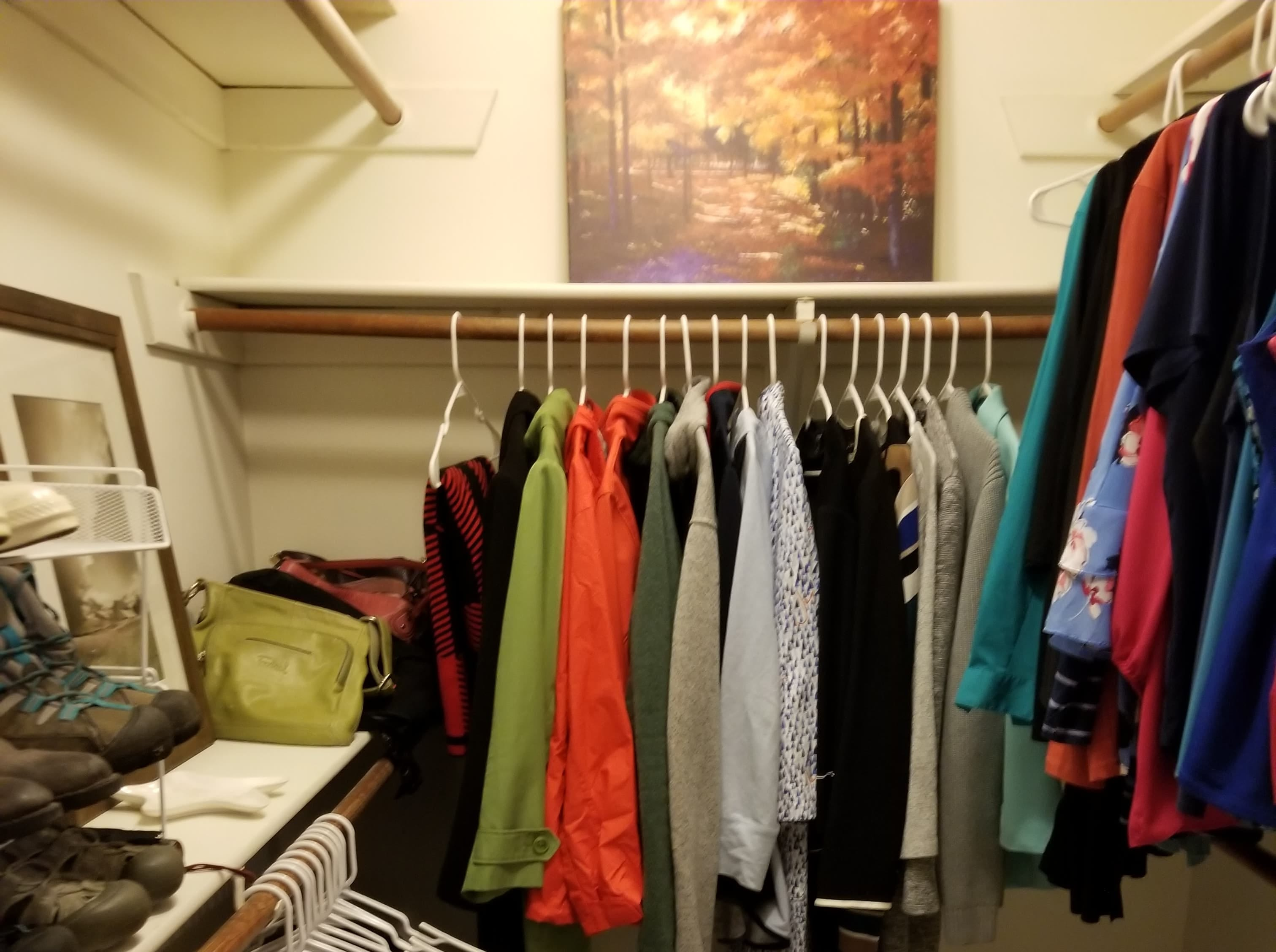 (After) Beth Dorsett of West Des Moines organized her closet based off Marie Kondo's KonMari method.