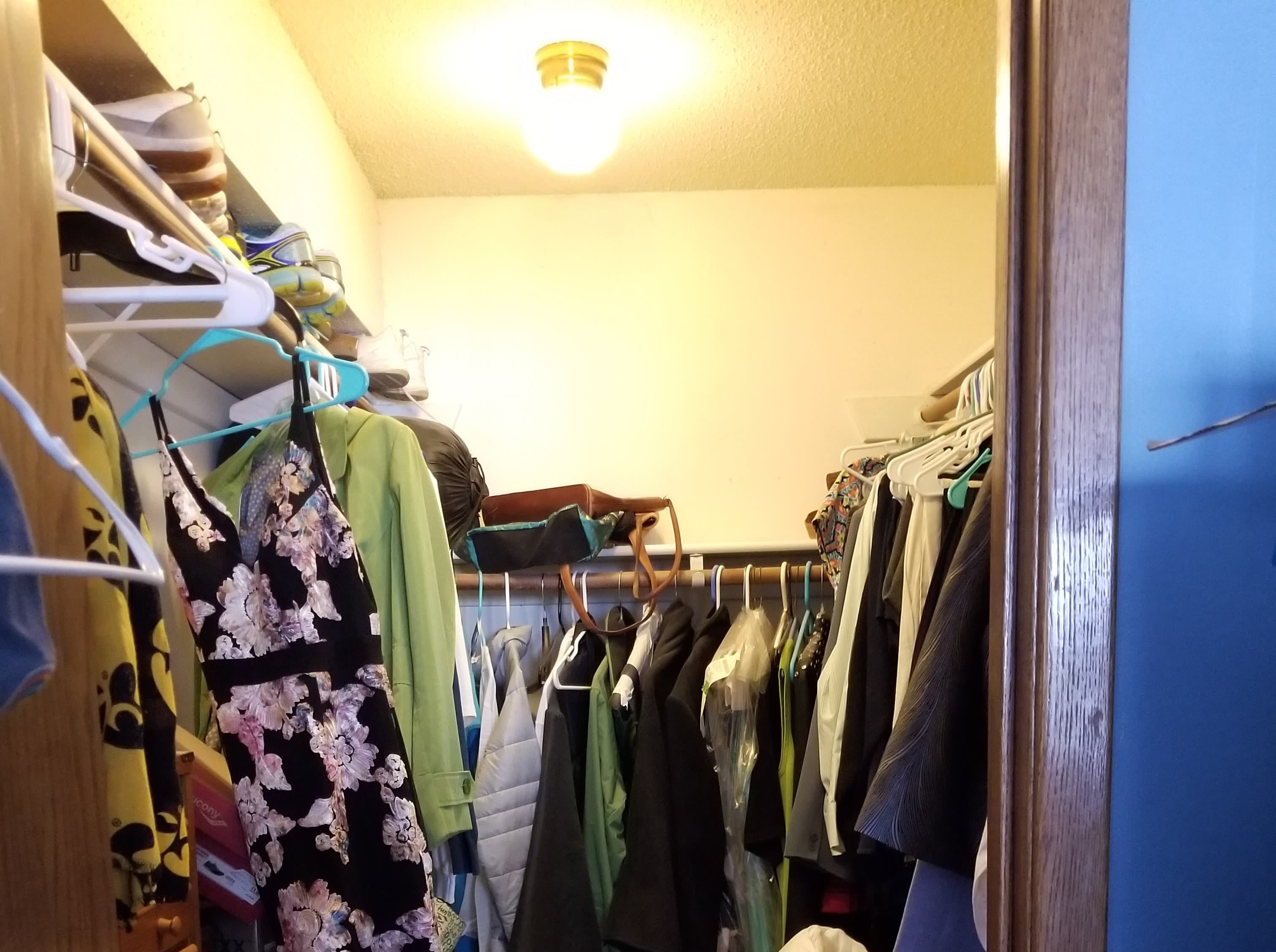 (Before) Beth Dorsett of West Des Moines organized her closet based off Marie Kondo's KonMari method.