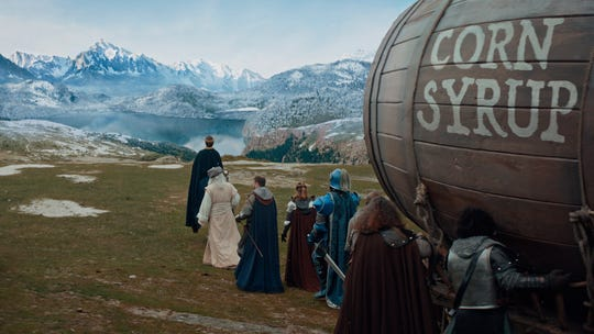 This image provided by Anheuser-Busch shows a scene from the company's Bud Light Super Bowl commercial.