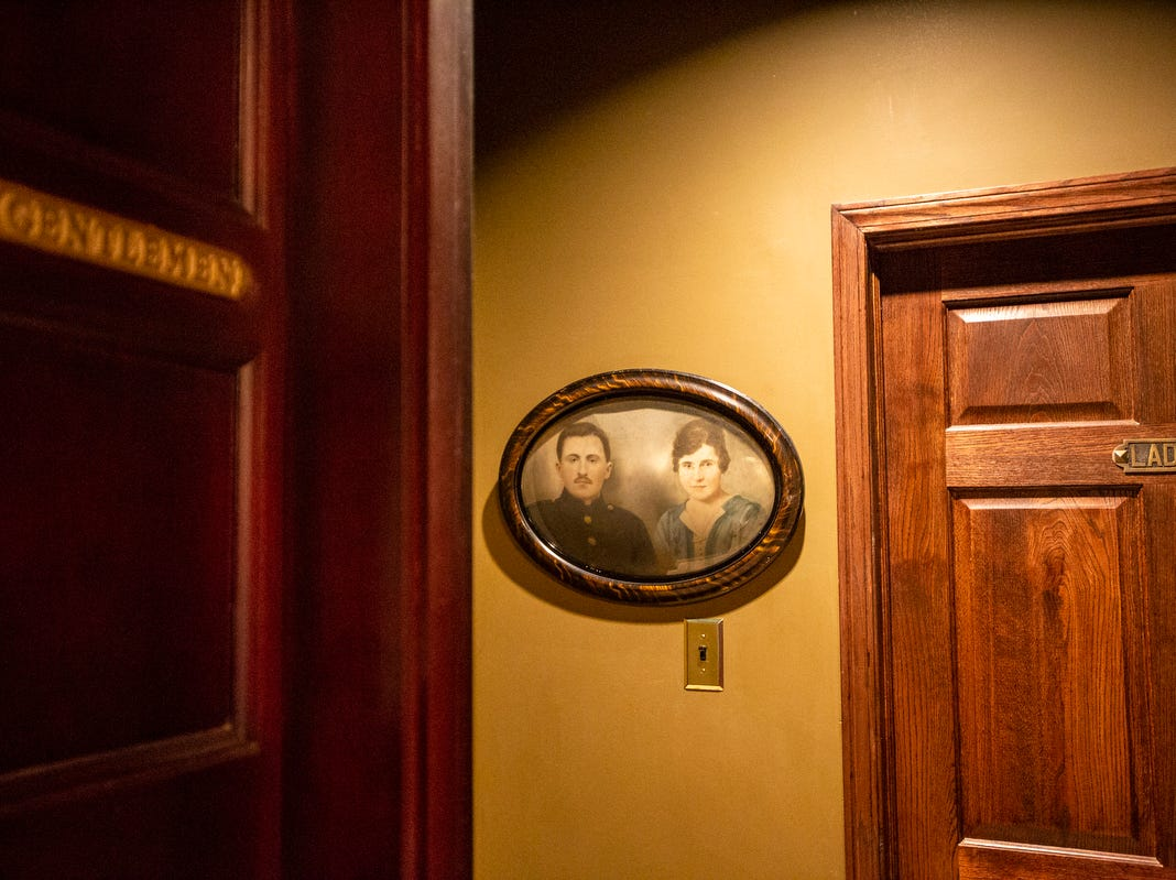 The restrooms had to be converted to ladies and mens at the Detroit Club in downtown Detroit on Friday, Feb. 1, 2019.
