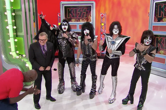 "Kiss appeared on ""The Price Is Right"" last month."