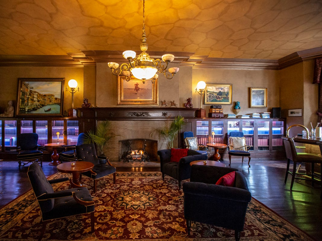 The Library, a revamped cocktail lounge, opened to the public on Jan. 14th at the Detroit Club in downtown Detroit is photographed on Friday, Feb. 1, 2019.