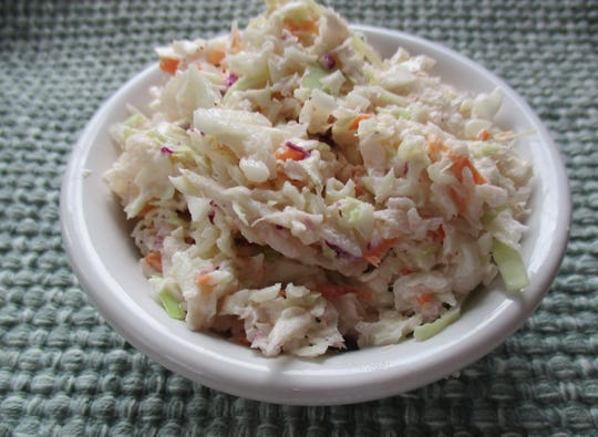 Bert's Creamy Cole Slaw has a tangy flavor and is simply seasoned.