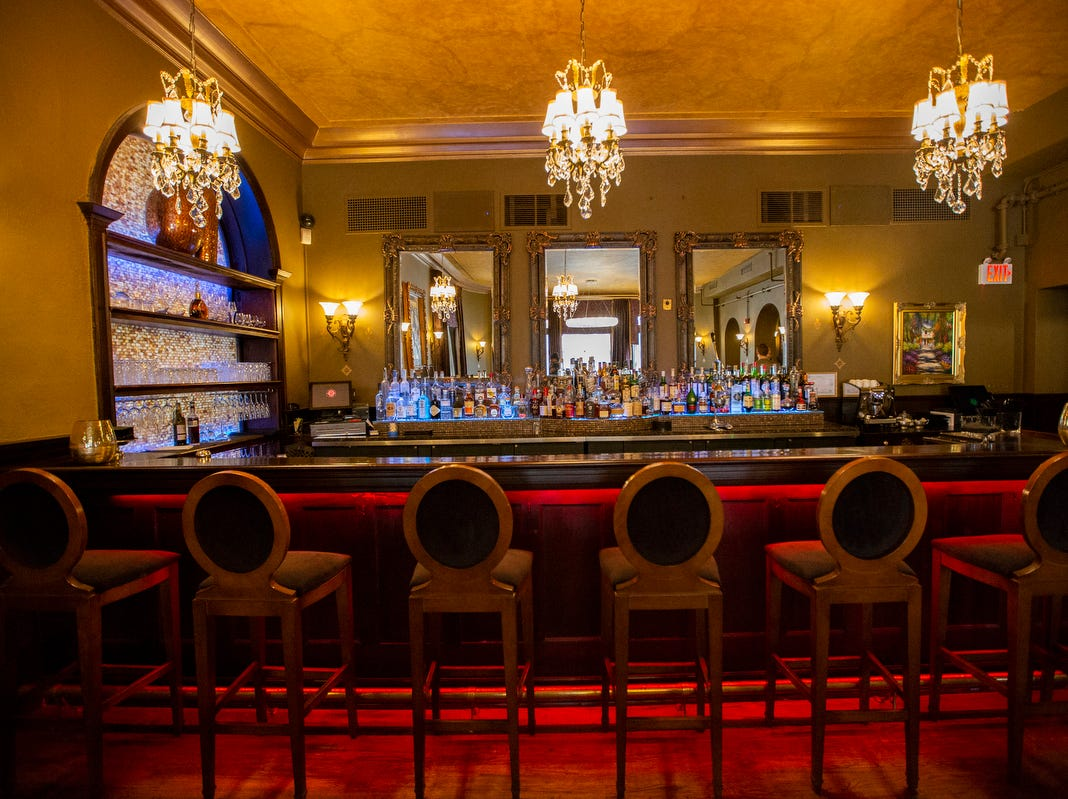 The Grille Room is a restaurant and bar that is open for lunch, dinner and soon brunch at the Detroit Club in downtown Detroit on Friday, Feb. 1, 2019.