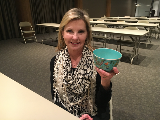 Rita O'Brien brought in for appraisal at the recent Trash or Treasure session held at the Michigan Design Center in Troy. The bowl measured just 5 inches in diameter and 3 ¼ inches high.