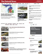The new Detroit News design website layout.