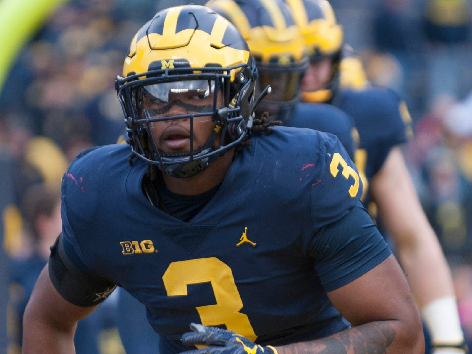 Go through the gallery to view Justin Rogers' 2019 NFL mock draft 1.0, which includes Michigan defensive lineman Rashan Gary (pictured).