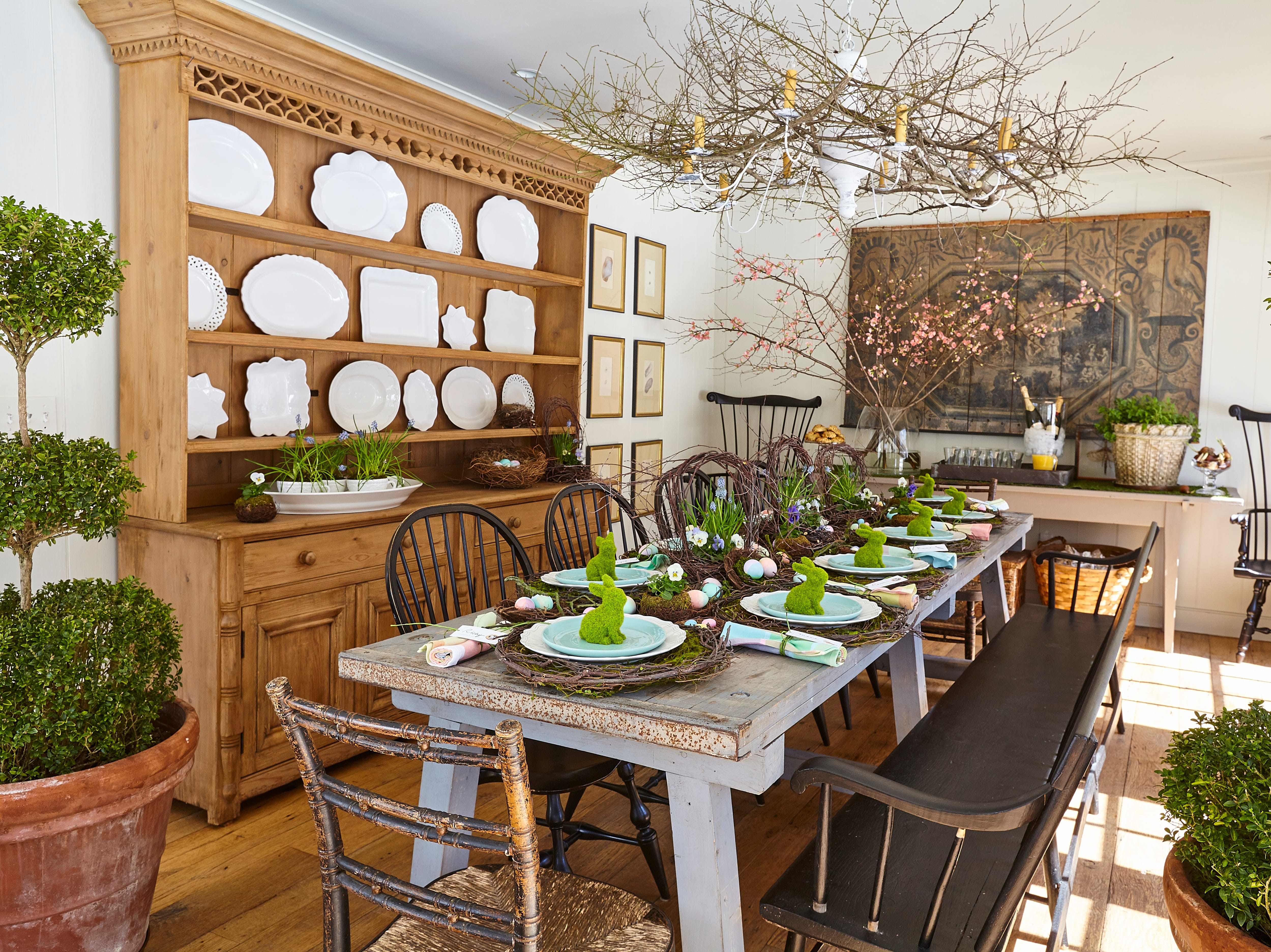 "Nora's Connecticut dining room is her ""entertaining go-to space,"" she says, ""making all who gather here feel loved is the real reason I pour my heart into the details."""