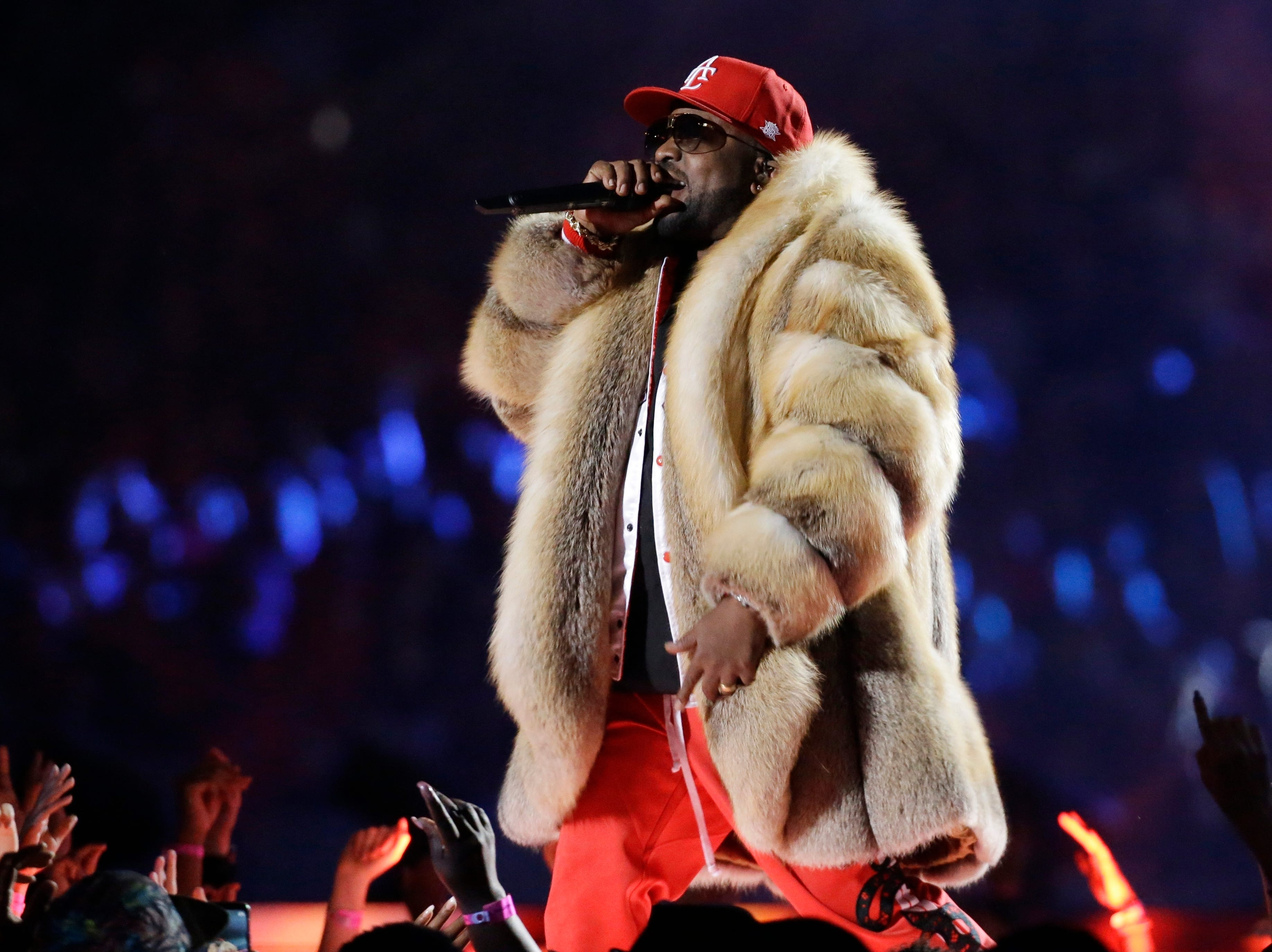 Big Boi performs during halftime.
